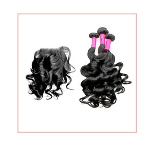 3 Bundle Special Mermaid Wave + Closure