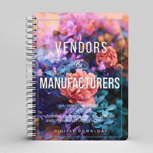 The Vendors & Manufacturers Ebook