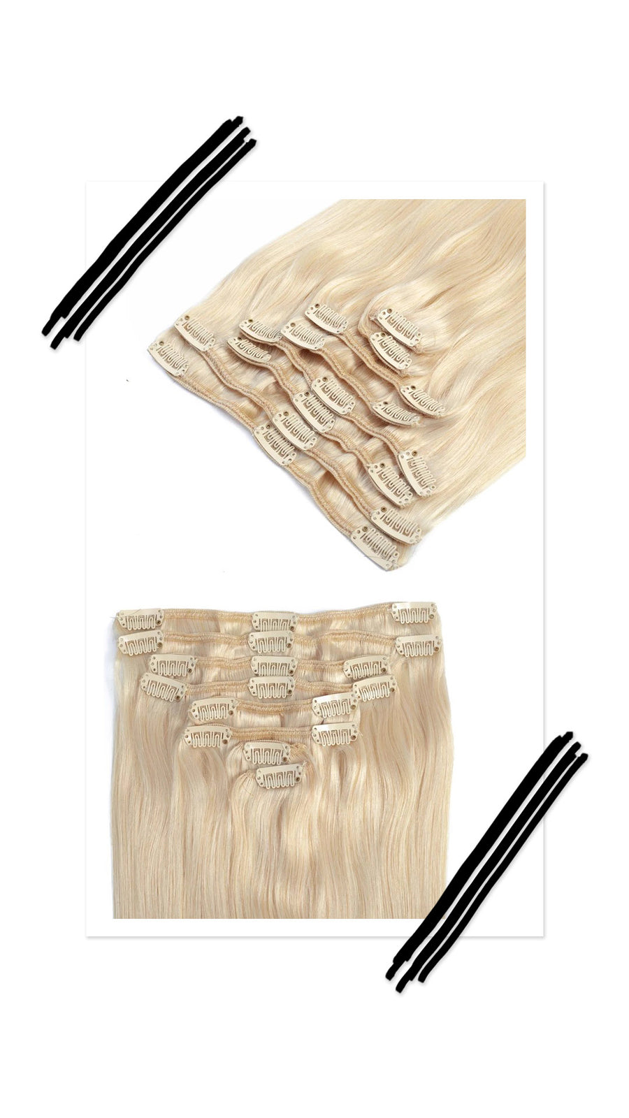 7pc Hair Clips Columbian Straight