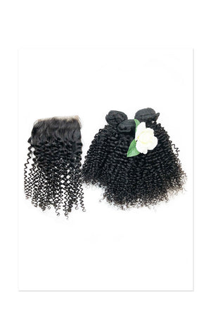 3 Bundle Special Afro Curl + Closure