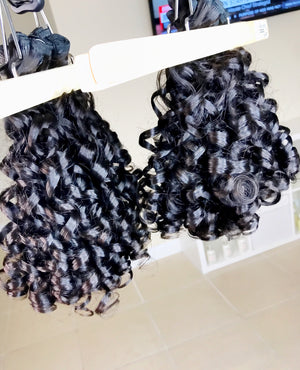 3 Bundle Special Moroccan Curl + Closure