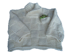 Bamboo shawl collard jumper with caterpillar