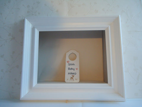 Wooden' Shh baby asleep' door hanger-vintage collection - TiggiesTinyToes