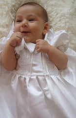 Christening robe, bonnet, petticoat and bib set - TiggiesTinyToes
