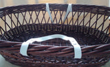 Moses Basket Set-Blue Ribbon - Romantic style - TiggiesTinyToes