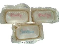 Baby Soaps - Embroidered / Baby Name - TiggiesTinyToes