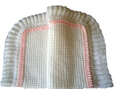 Blanket - Knitted with Fluted Edging - TiggiesTinyToes