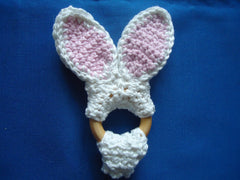 Bunny teether and dummy keeper - TiggiesTinyToes