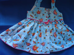 Sun dress in butterfly cotton print - TiggiesTinyToes