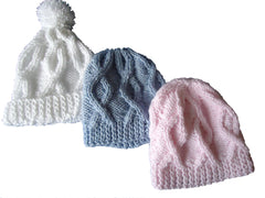Hats - Cabled - TiggiesTinyToes