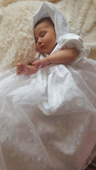 Christening Robe - Lace - TiggiesTinyToes