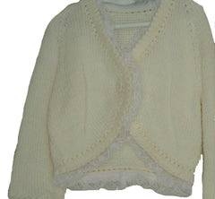 Bolero style cardigans with lace