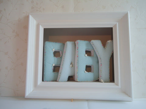 Padded Letters with floral piping - TiggiesTinyToes