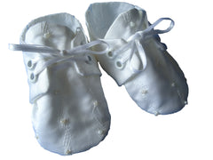 Christening Shoes-Beaded - TiggiesTinyToes