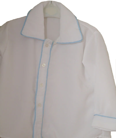 Prince George style shirt with piping - TiggiesTinyToes