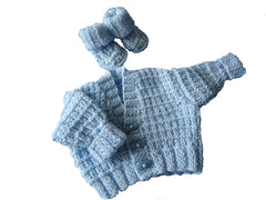 Prem baby cardi and bootees set - TiggiesTinyToes