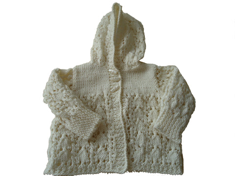 Prem Lacy Knitted Jacket - TiggiesTinyToes