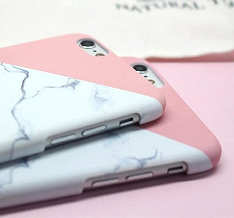 Marble Pink / White / Grey iPhone 6 Case / iPhone 6s Case