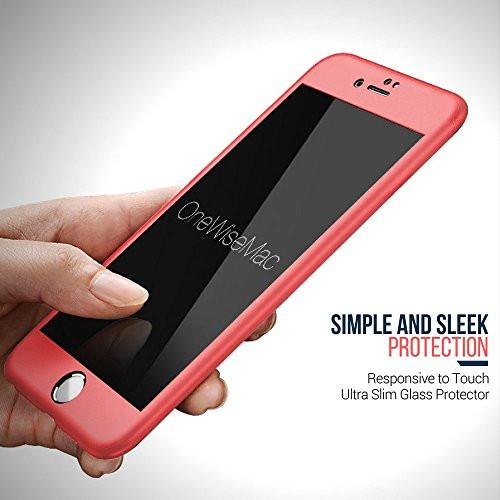 360° Silicone Case + Glass [Peach] for iPhone 6 Plus / 6s Plus