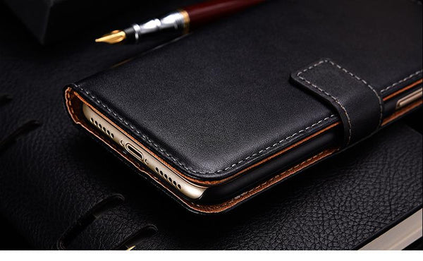 Genuine Leather Wallet [2 Colours] for iPhone X