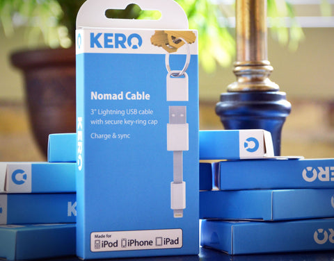 Kero Nomad 3 inch Lightning USB Cable