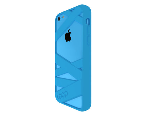 Mummy Case For iPhone 5c Cyan
