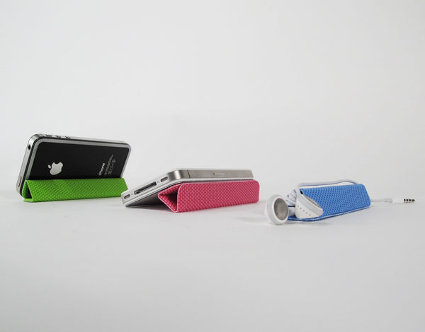 Tidytilt iPhone Cover - Earphone Cord Wrap, Stand & Mount
