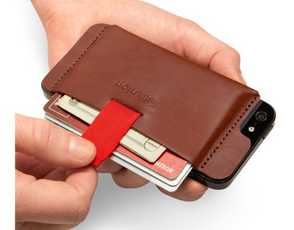 Wally iPhone 5 Leather Wallet - Brown