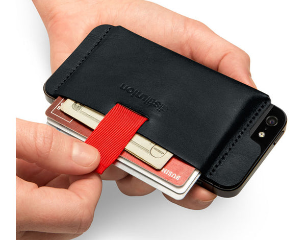 Wally iPhone 5 Leather Wallet - Black