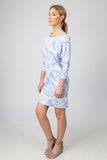 DOLMAN DRESS  - BLUE PALM PRINT - Sha-de  - 4