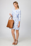 DOLMAN DRESS  - BLUE PALM PRINT - Sha-de  - 5