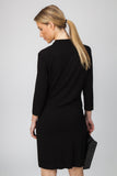 DRAPE NECK DRESS-BLACK - Sha-de  - 5