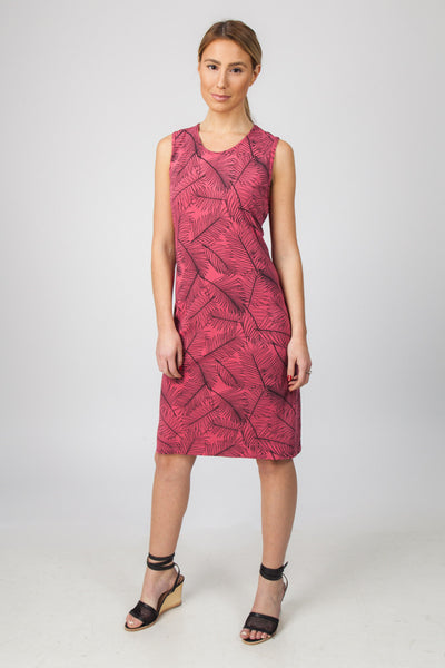 TANK DRESS- WATERMELON PALM PRINT - Sha-de  - 1
