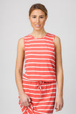 STRIPED MAXI- WATERMELON/CREAM - Sha-de  - 2