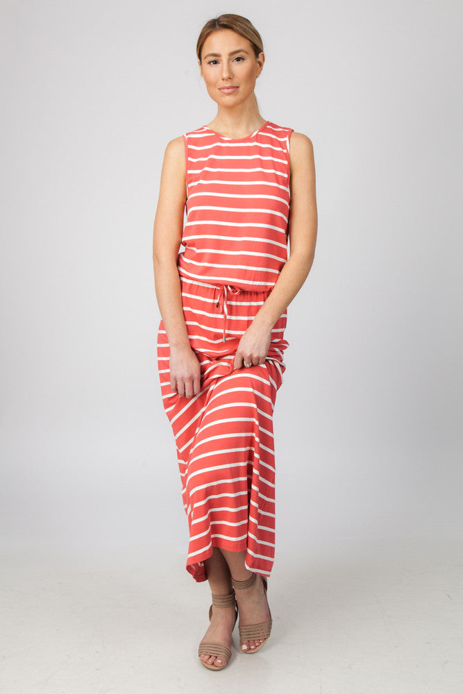 STRIPED MAXI- WATERMELON/CREAM - Sha-de  - 1