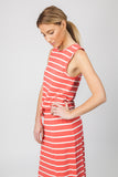 STRIPED MAXI- WATERMELON/CREAM - Sha-de  - 3