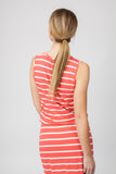 STRIPED MAXI- WATERMELON/CREAM - Sha-de  - 4