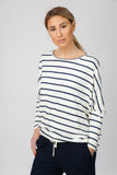 DOLMAN TOP - CREAM/INDIGO - Sha-de  - 3