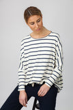 DOLMAN TOP - CREAM/INDIGO - Sha-de  - 2