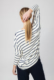 DOLMAN TOP - CREAM/INDIGO - Sha-de  - 5