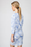 DOLMAN DRESS  - BLUE PALM PRINT - Sha-de  - 3