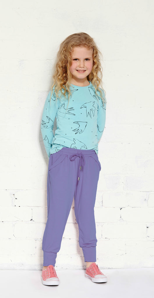 Round Off Jogger - Light Grape