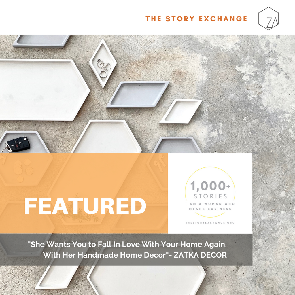 Zatka home Decor featured on The Story Exchange, image of best seller trays