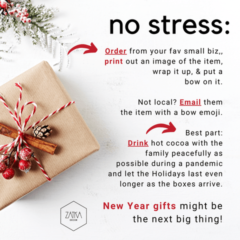 no stress shipping/gifting tips with craft paper box with twine