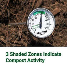 Load image into Gallery viewer, REOTEMP Backyard Compost Thermometer - 20 Inch Stem, with PDF Composting Guide (Fahrenheit)