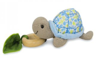 Apple Park Birth Plus Crawling Critter - Turtle Blue Floral
