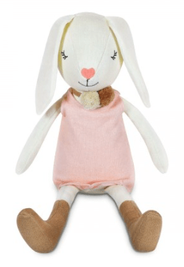 Apple Park Birth Plus Organic Knit Bunny - Charlotte