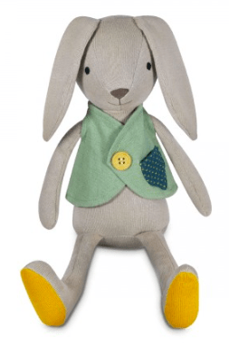 Apple Park Birth Plus Organic Knit Bunny - Luca