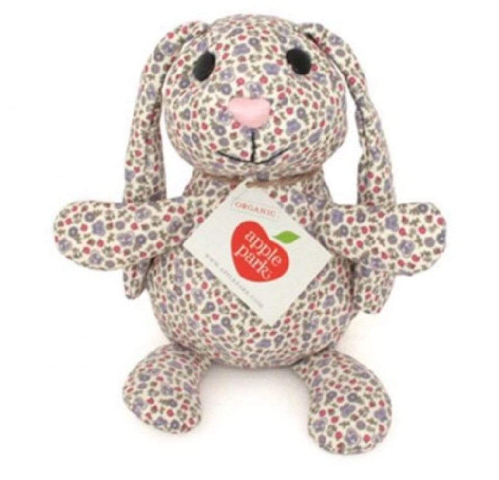 Apple Park Birth Plus Organic Luxury - Garden Print Bunny