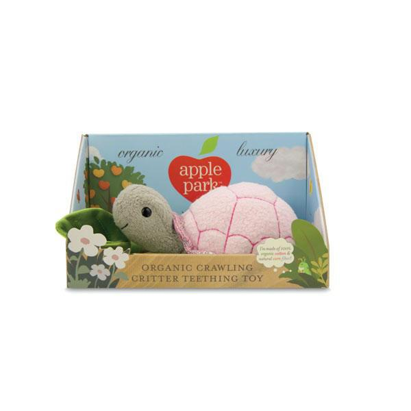 Apple Park Birth to 12 Months Crawling Critter -Turtle Pink